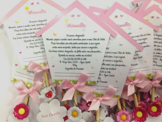 Convites Chá de Bebê Jardim Encantado