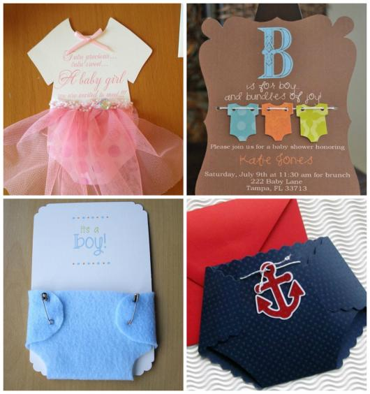 Convites Chá de Bebê Diferentes para Menina