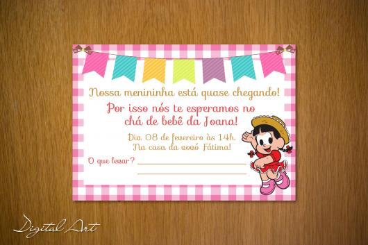 Convites Chá de Bebê Com Tema Junino para Menina