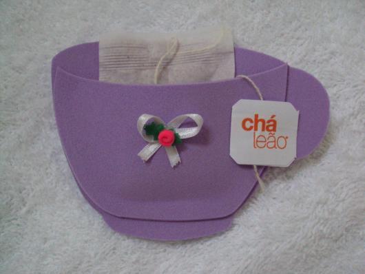 Convites Chá de Bebê de EVA para Menina de xícara