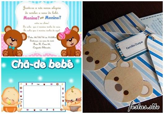 Convites Chá de Bebê modelos