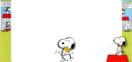convite para imprimir Snoopy