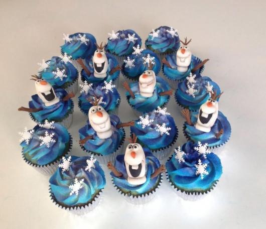 cupcake da Frozen do olaf