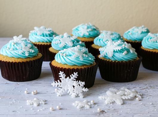 cupcake da Frozen de leite com ganache