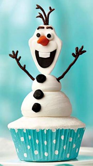 como fazer cupcake da Frozen