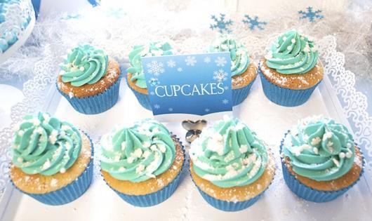 cupcake da Frozen para festa de aniversário