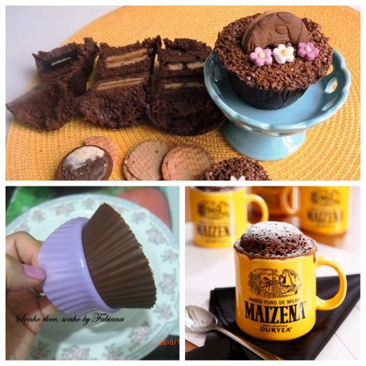cupcake de microondas chocolate