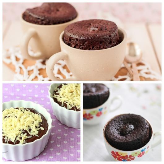 cupcake de microondas de chocolate caneca