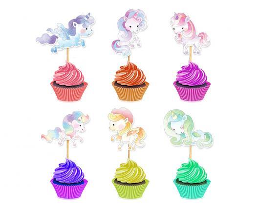 Cupcake de Unicórnio topper modelo de unicórnio em várias cores