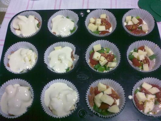 Cupcake Salgado Massa Simples