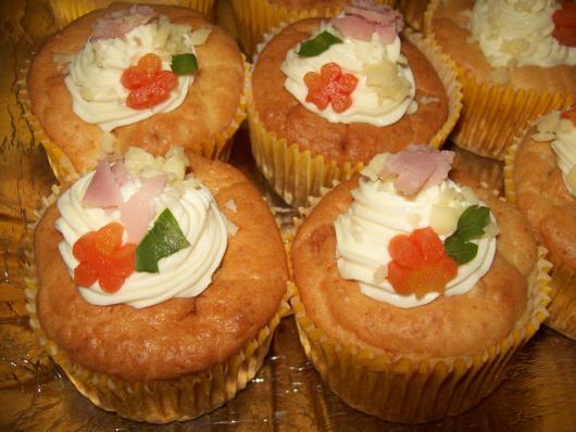 Cupcake Salgado de Liquidificador de presunto e queijo
