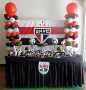 Decoração de Festa Simples futebol time São Paulo