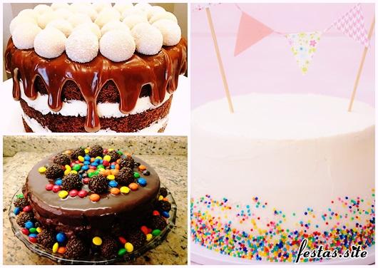 Decoração de Festa Simples bolo modelos