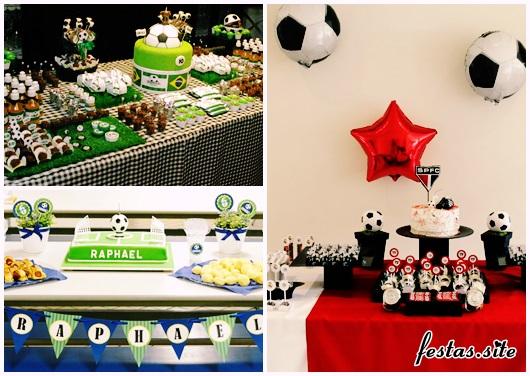 Decoração de Festa Simples futebol modelos