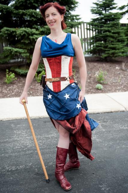 Fantasia Capitão América Feminina com saia