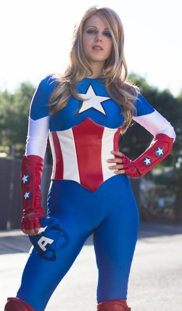 ideias para Fantasia Capitão América Feminina