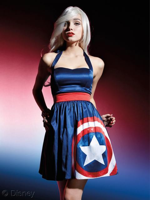 vestido para Fantasia Capitão América Feminina customizada