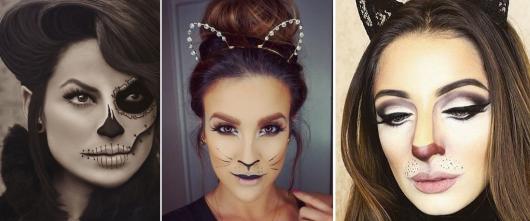 Fantasia Mulher Gato Maquiagem com várias versões