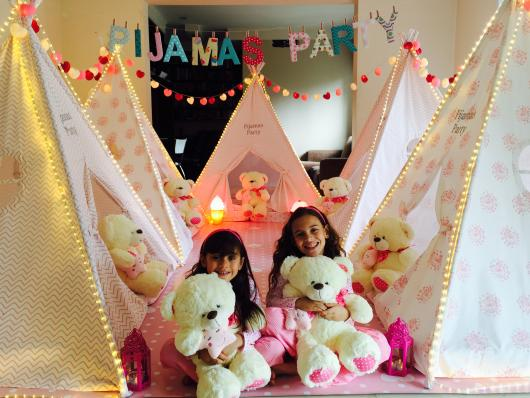 decoração de festa do pijama simples