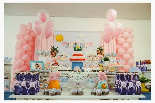 Decoração Festa Peppa Pig para comemoração de um aninho