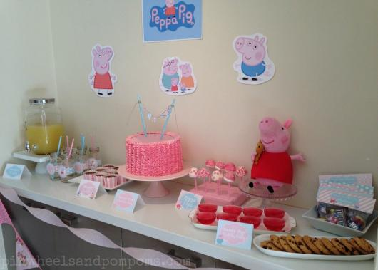 Decoração Festa Peppa Pig simples