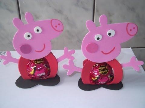 Lembrancinhas da Festa Peppa Pig de Eva Porta Bombom