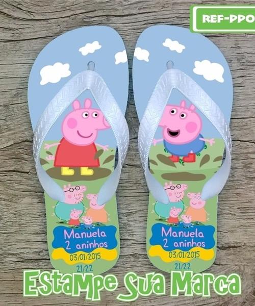 Lembrancinhas da Festa Peppa Pig chinelos personalizados