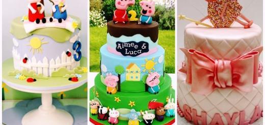Festa Peppa Pig bolos com 2 andares