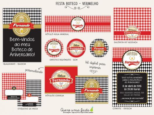 Kit Festa Boteco 20 Modelos Incriveis Para Imprimir Facil Gratis