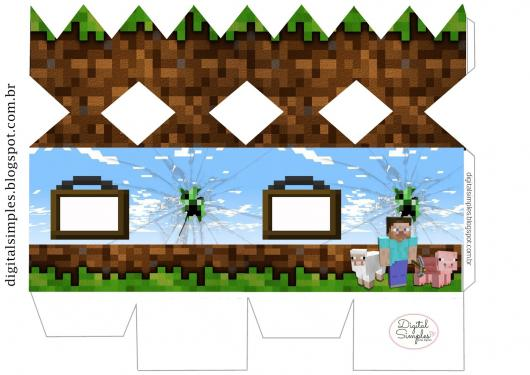 Kit Festa Infantil para Imprimir Minecraft