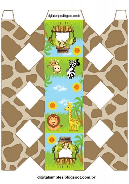 Kit Festa Infantil para Imprimir Safari