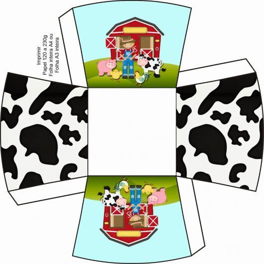 Kit Festa Infantil para Imprimir Fazendinha