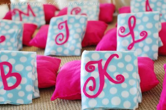 almofadas para festa do pijama simples
