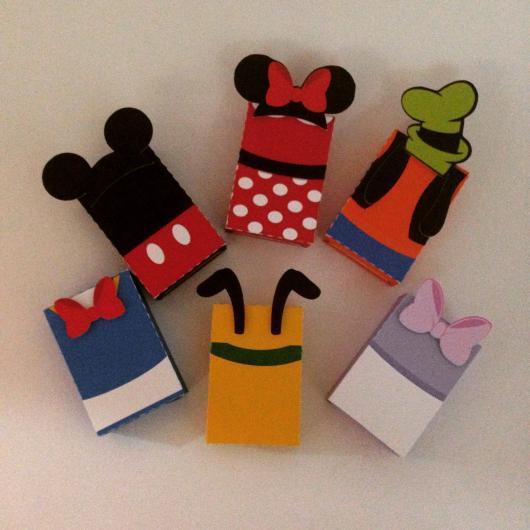 Lembrancinha com Caixa de Leite para aniversário com Turma do Mickey