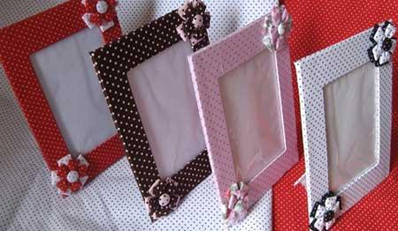 Lembrancinha com Caixa de Leite port retrato revestido com tecido