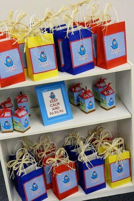 Lembrancinhas da Galinha Pintadinha sacolinhas surpresa personalizadas