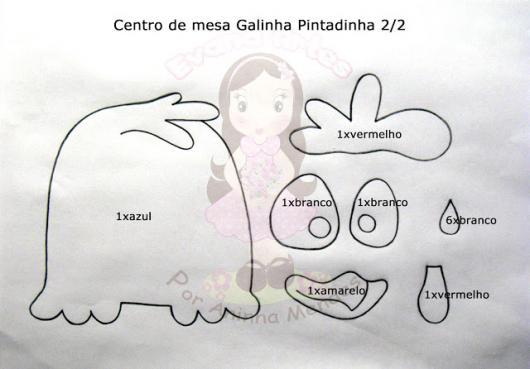 Molde para imprimir de Lembrancinhas da Galinha Pintadinha
