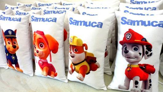 Lembrancinhas Patrulha Canina Criativas em formato de almofadas