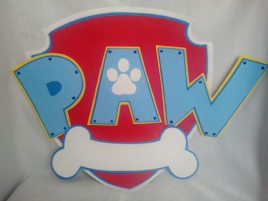 Lembrancinhas Patrulha Canina em EVA com brasão