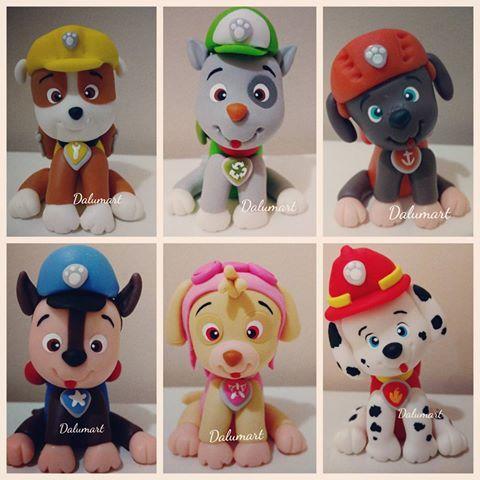 Lembrancinhas Patrulha Canina em Biscuit com personagens modelados