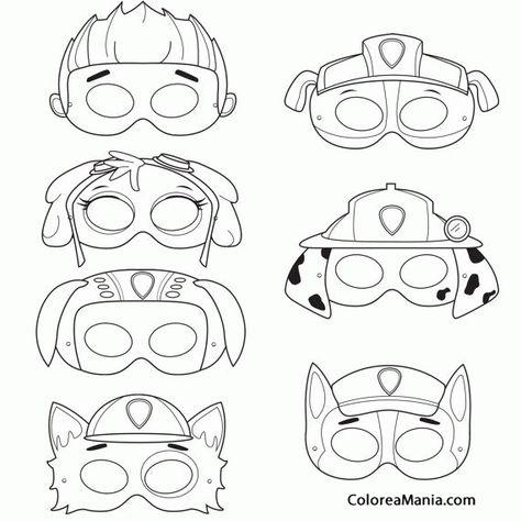 Molde de Lembrancinhas Patrulha Canina para Imprimir e fazer máscaras