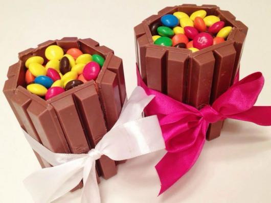 mini bolo de chocolate kit kat