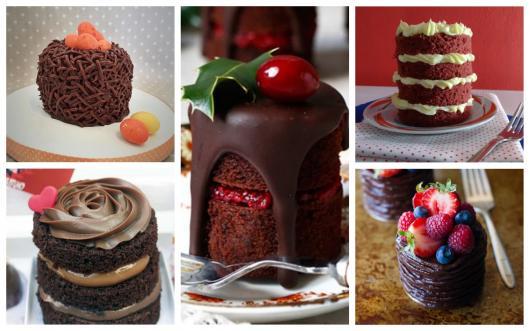 ideias de mini bolo de chocolate