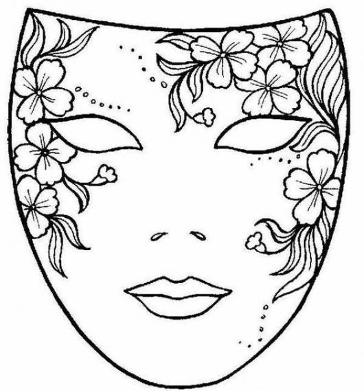 Moldes De Máscara De Carnaval De 40 Tipos Para Você Imprimir E