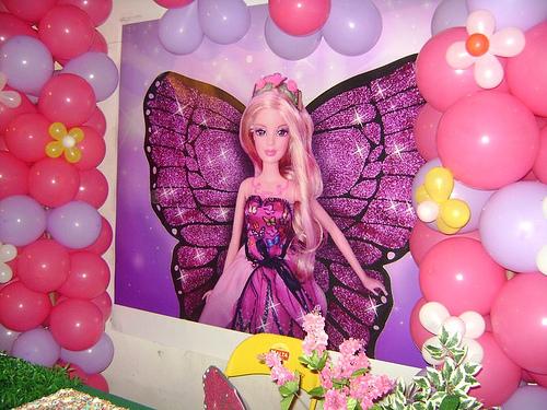 Painel de Festa Infantil da Barbie Fada