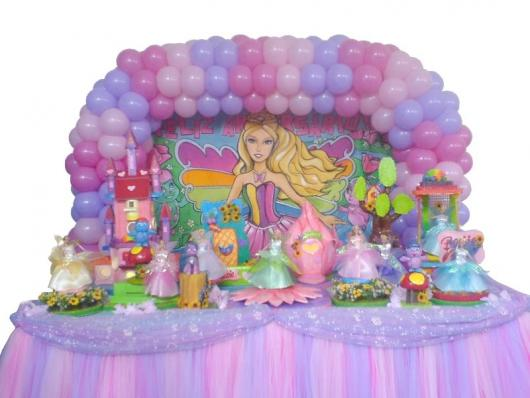 Painel de Festa Infantil da Barbie Princesa