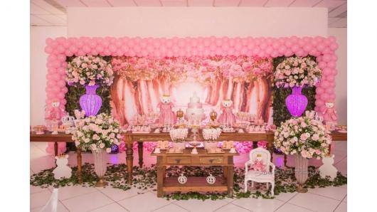 Painel de Festa Infantil de Princesa em 3d