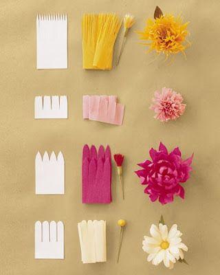 pompom de papel crepom passo a passo flor