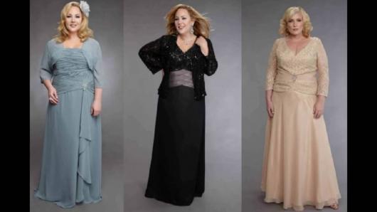 Vestido de Festa Longo para senhoras em tamanho plus size