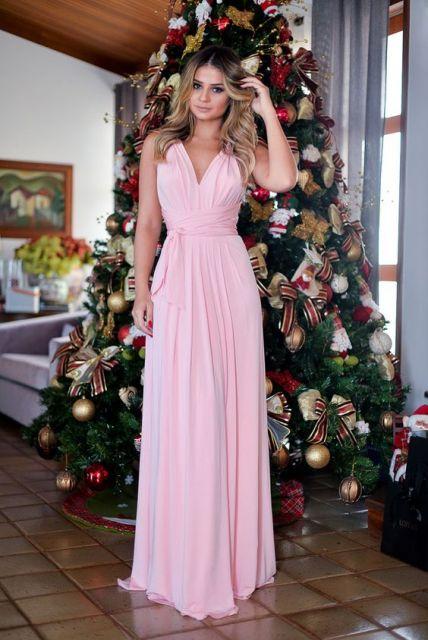 Vestidos de festa longo rosa
